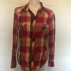 Old Navy button up plaid womens large
